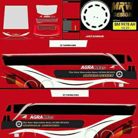 Download Livery BUSSID Mod Shd Png Bus Agra Mas
