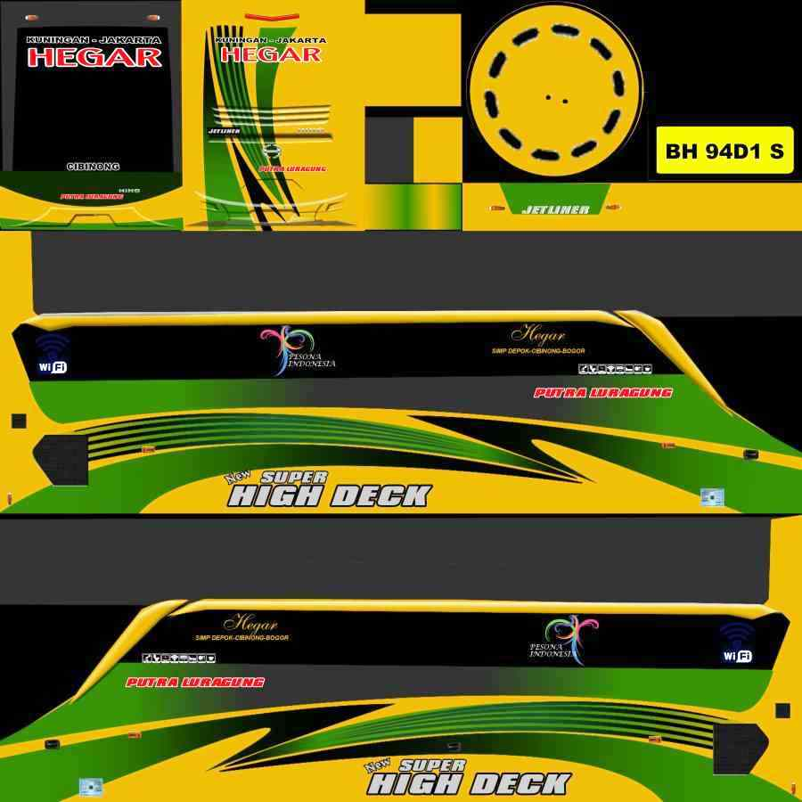 Download Livery BUSSID Mod Shd Png Bus Putra Luragung